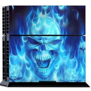 [tag] Blue Skull Skin til Playstation 4 Gaming