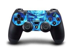 [tag] Blue Skull Skin til Playstation 4 controller Gaming