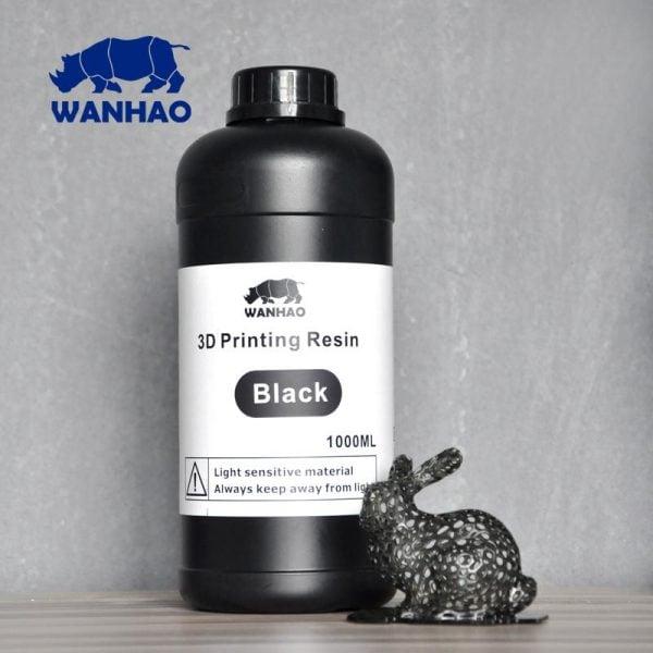 [tag] Wanhao 3D-Printer UV Resin – 1000 ml – Black Resin
