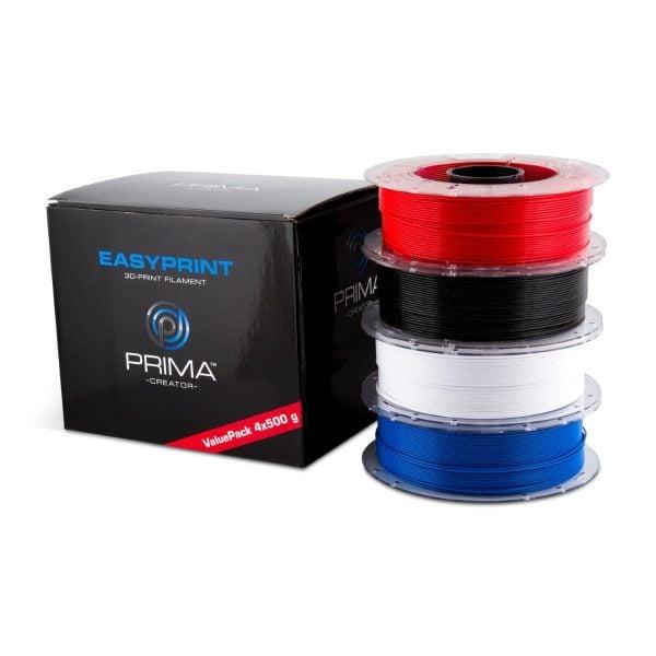 [tag] EasyPrint PLA Value Pack Standard – 1.75mm – 4x 500 g (Total 2 kg) 3D Filament