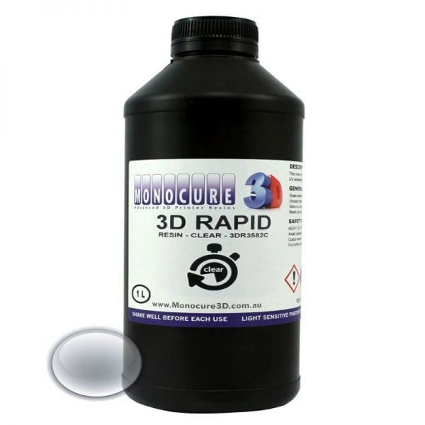 [tag] Monocure 3D RAPID resin – 500ml – Clear Resin