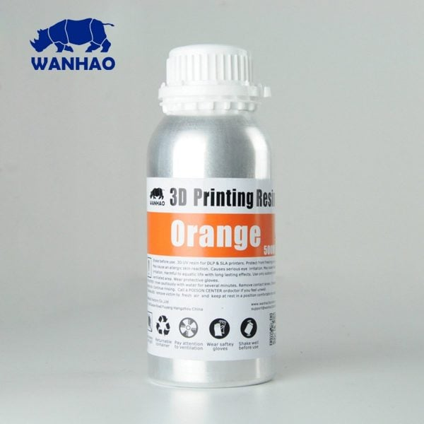 [tag] Wanhao 3D-Printer UV Resin – 500 ml – Orange Resin