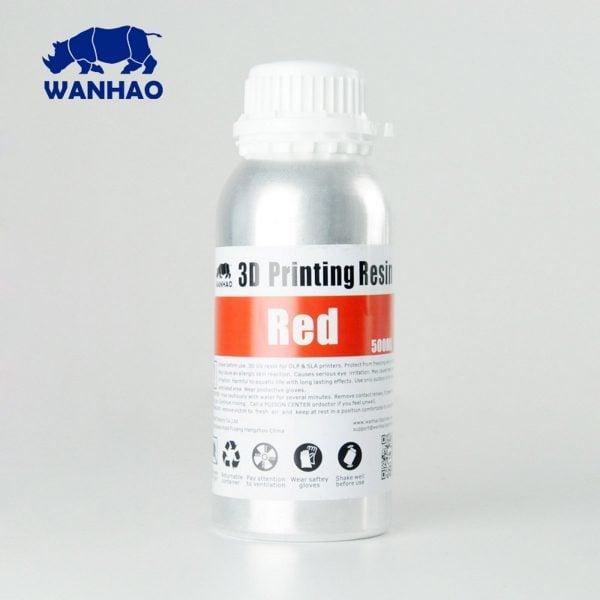 [tag] Wanhao 3D-Printer UV Resin – 500 ml – Red Resin