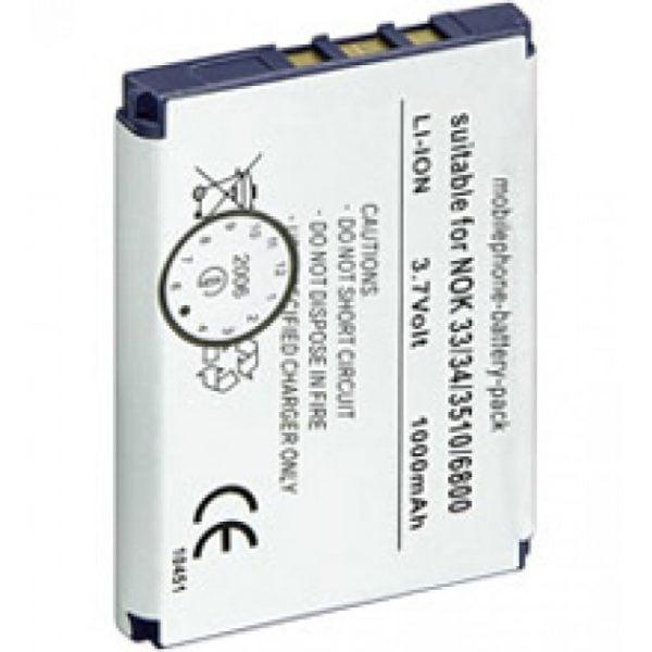 [tag] Nokia 3310 / 3330 / 3410 / 3510 (Uoriginalt) 950mAh Mobiltelefon batterier