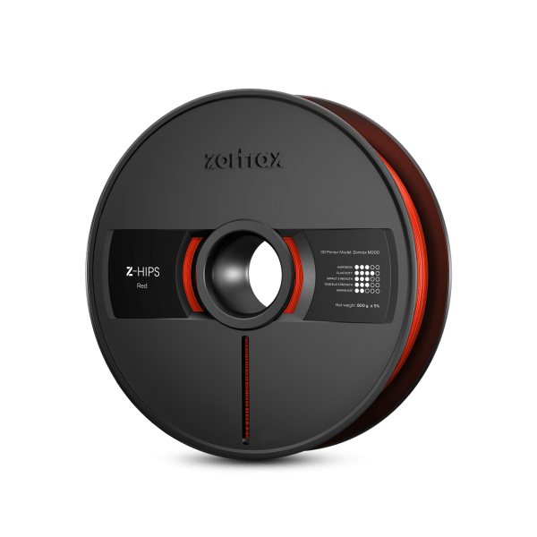 [tag] Zortrax Z-HIPS – 1.75mm – 800g – Red Zortrax Filament