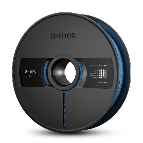 [tag] Zortrax Z-HIPS – M300 – 1.75 mm – 2 kg – Blue Zortrax Filament