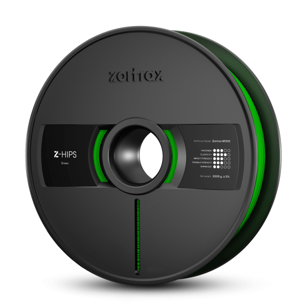 [tag] Zortrax Z-HIPS – M300 – 1.75 mm – 2 kg – Green Zortrax Filament