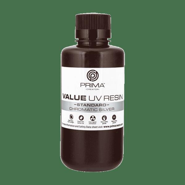 [tag] PrimaCreator Value UV / DLP Resin – 500 ml – Chromatic Silver Resin